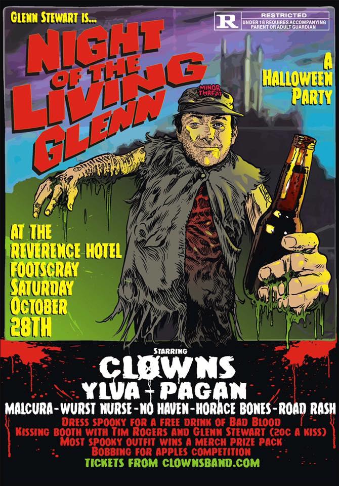 Malcura Open for Melbourne Punk Rock Legends Clowns — Malcura